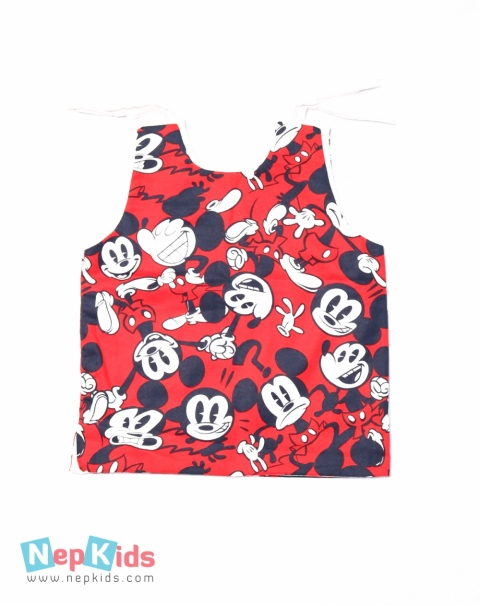 Premium Quality Mickey Mouse Print Japanese Falatin 2pcs Bhoto Set - 2 to 3 years