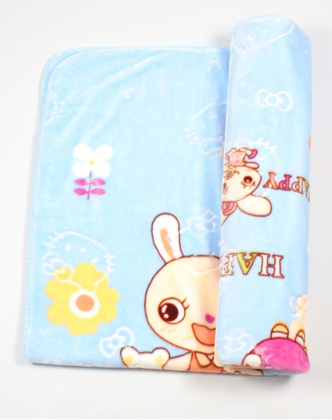 Happy Bunny Bed Throw Blanket