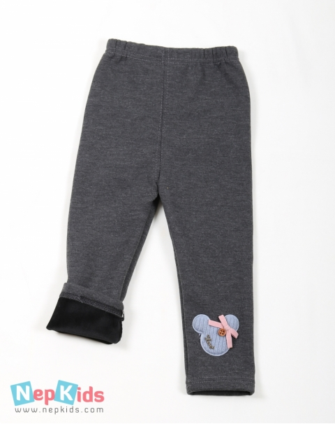 Thick leggings with Velvet Inner Lining - Gray