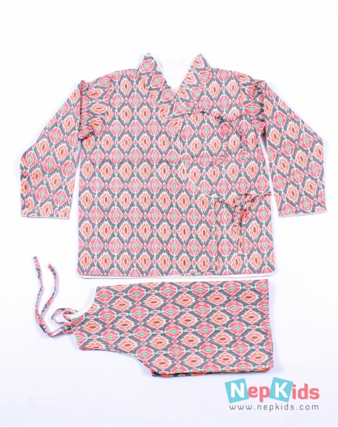 Lively leaves High Quality Cotton Dhaka Bhoto Set - 2pc. set